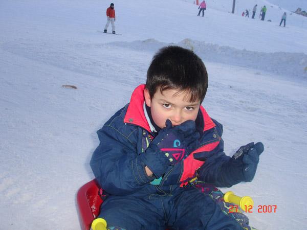 Adam au ski