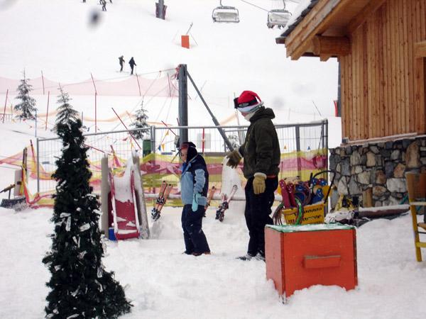 Apprentissage du ski pour les enfants atteint d'autisme